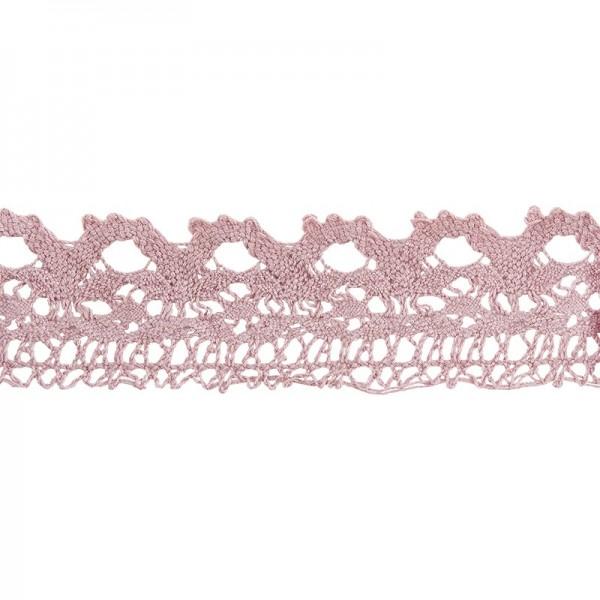 Häkelspitze Design 11, 2,8cm breit, 2m lang, altrosa