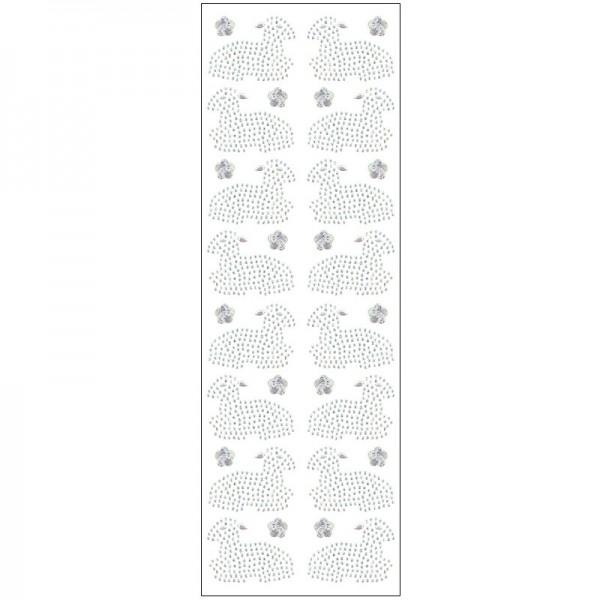 Kristallkunst, Lamm, 10cm x 30cm, selbstklebend, klar irisierend