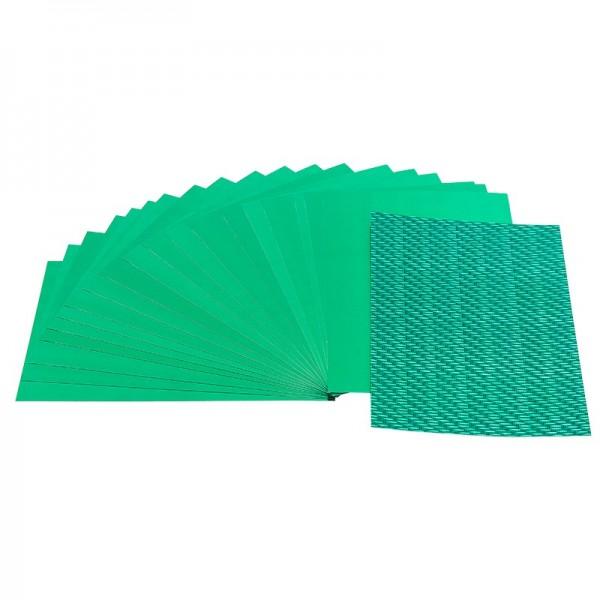 Doppel-Folien, Laser- & Spiegeleffekt, 10cm x 15cm, grün, 20 Stück