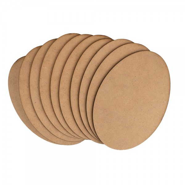 Kreativ-Platte, Eiform, 14,8 x 10,3 cm, Stärke: 3mm, 10 Stück