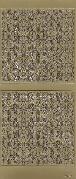 Sticker, Hintergrundornamentik Floristik 1, gold