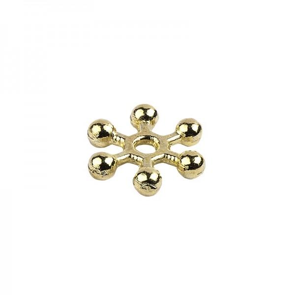 Perlenräder, Ø 8 mm, hellgold, 200 Stück