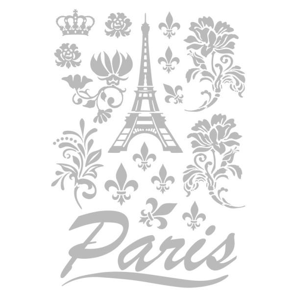 Metallic-Bügeltransfers, Paris, DIN A4, silber glänzend