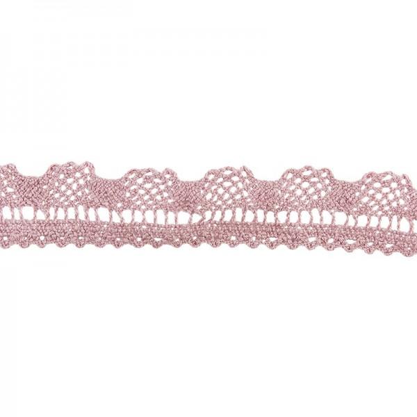 Häkelspitze Design 8, 2,1cm breit, 2m lang, altrosa