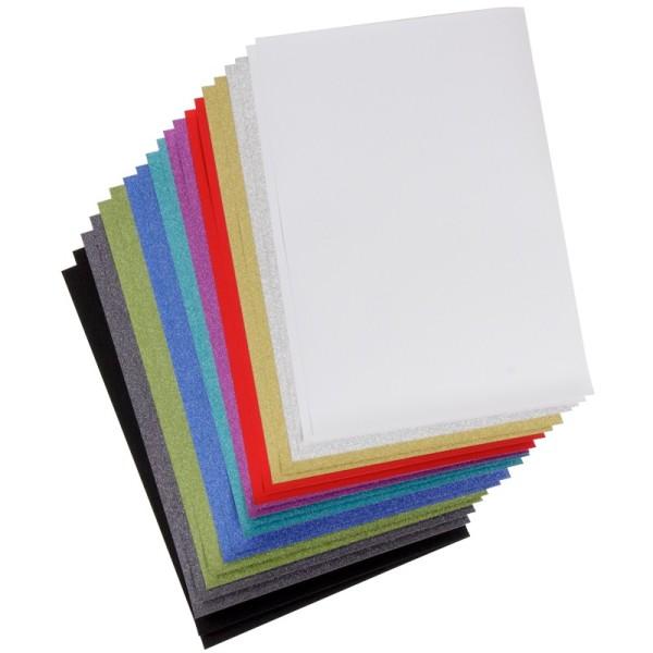 Glitter-Papier/Stanz-Papier, diamantierte Optik, Din A4, 125g/m², 20 Blatt