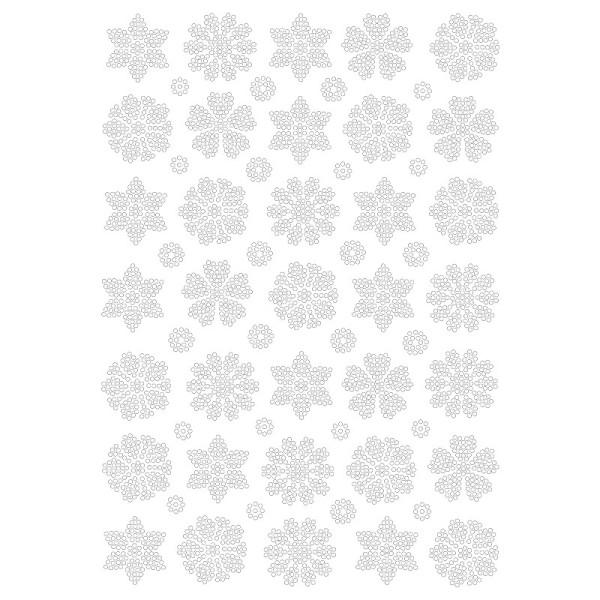 Bügelstrass-Design, DIN A4, klar, Blumen-Ornamente