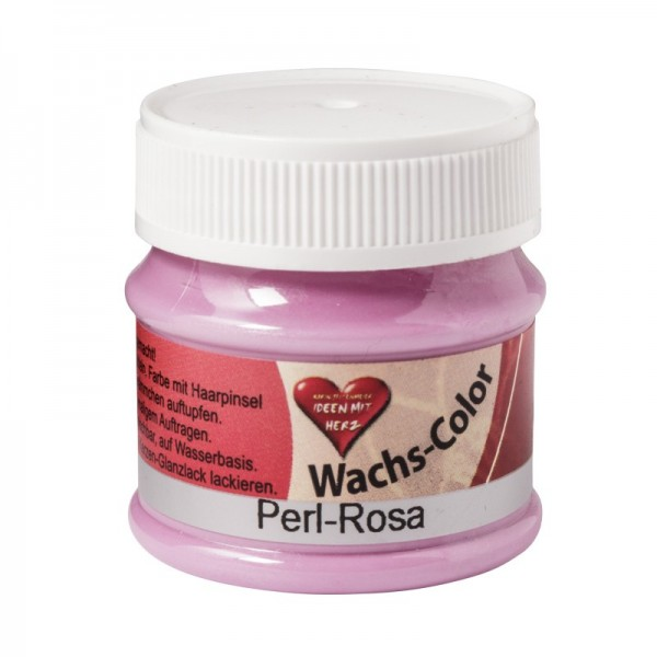 Perlmutt Wachs Color, 50 ml., Perl-Rosa