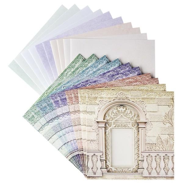 """Sichtfolien-Grußkarten """"Fenster 3"""", 16cm x 16cm, inkl. Einleger & Umschläge, 40-teilig"""