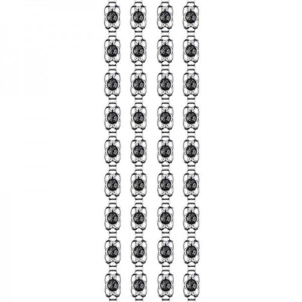 """Premium-Schmuck-Bordüren """"Bracelet 7"""", selbstklebend, 29cm, silber"""