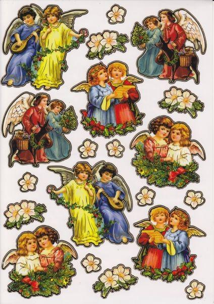 Ultra Gloss Sticker, DIN A4 Bogen, Engel