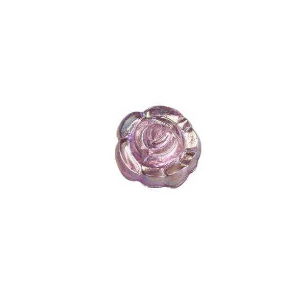 Glitzersteine, Rosen, Ø0,7cm, 100 Stück, rosé