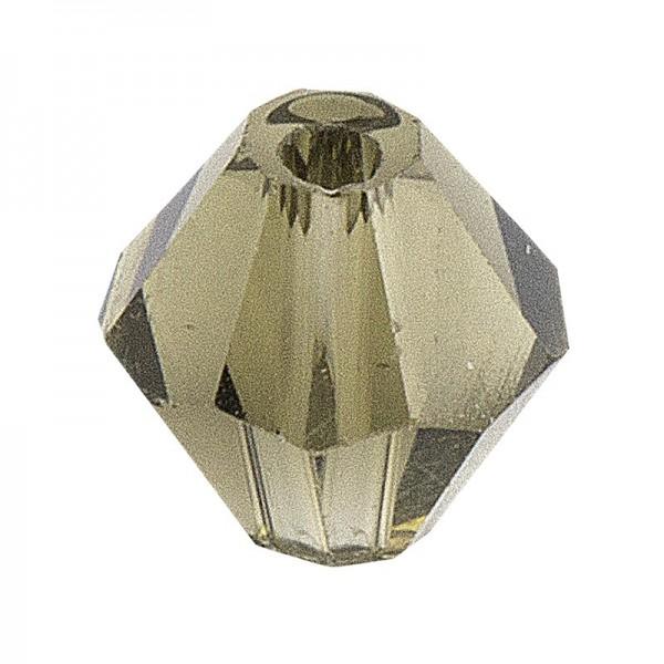 Glaskunst, Perlen, Diamant, 0,8cm x 0,8cm, facettiert, klar hellgrau, 50 Stück