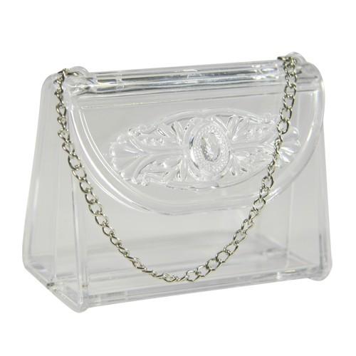 Acryl-Handtasche, 7 x 3,7 x 5,5 cm, klar