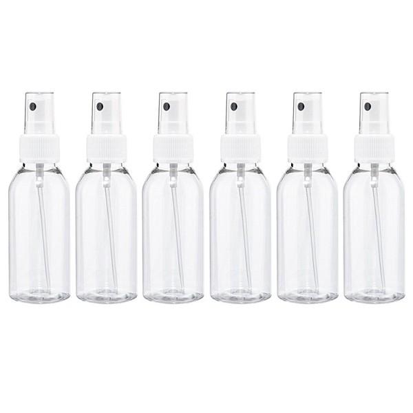 Pump-Sprühflaschen für je 100ml Inhalt, feiner Sprühkopf, 6 Stück