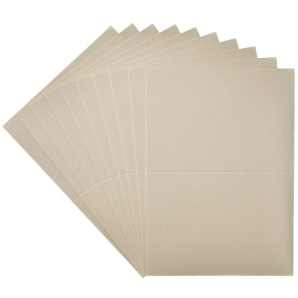10er Doppelkarten-Set, DORÉ, perlmutt-champagner, DIN C6