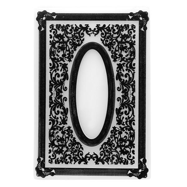 Prägeschablone, Ornamentik 8, 15,5cm x 10,5cm