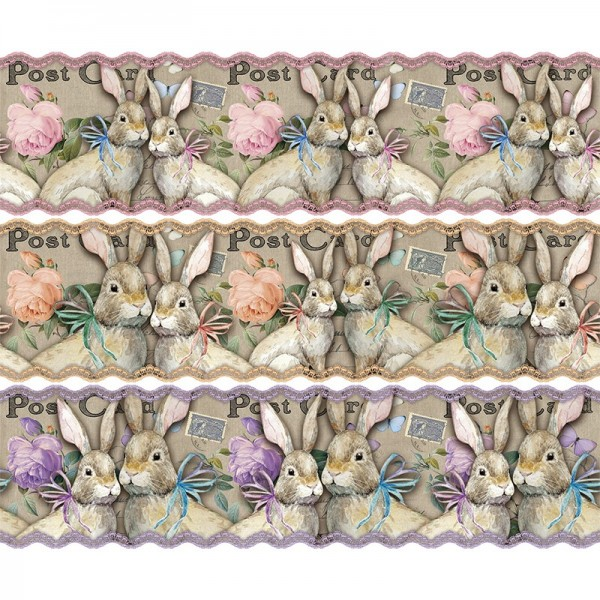 """Zauberfolien """"Nostalgie-Frühling"""", Schrumpffolien für Eier mit 10cm x 7,5cm, 9,3cm hoch, 6 Stück"""