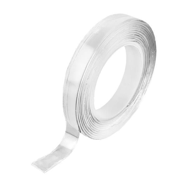 Magic Tape, 1cm breit, 1mm stark, 2m lang, klar-transparent, doppelseitig haftend, spurlos abziehbar