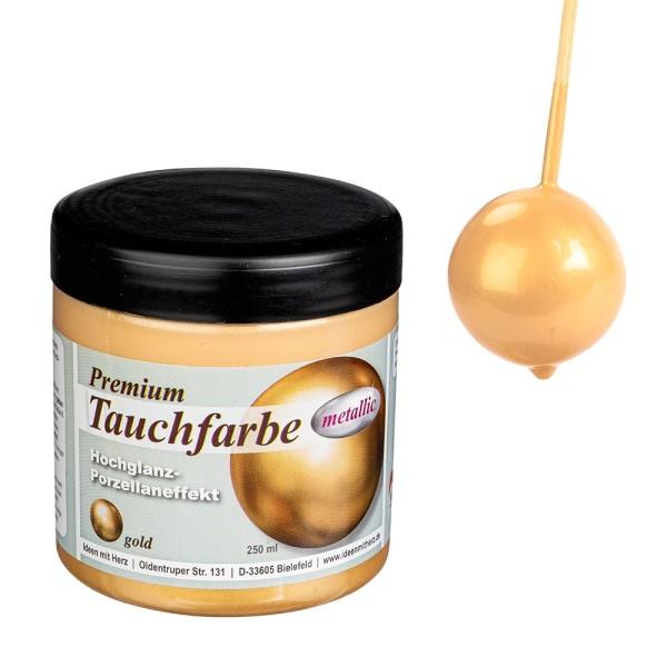 Premium-Tauchfarbe, metallic, gold, 250ml