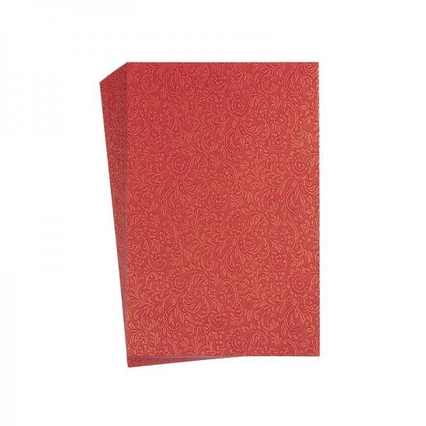 "Faltpapiere ""Nova 2"", 10x15cm, 50 Stück, rot-gold"