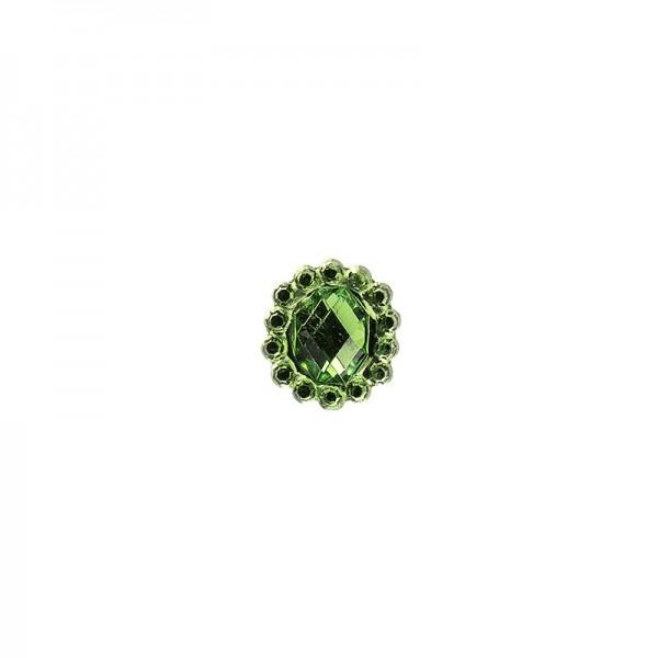 Ornament-Glitzersteine, 50 Stück, Design 9, grün