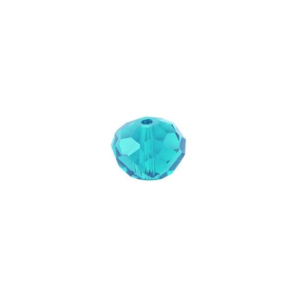 Perlen, Rondelle, facettiert, 0,6cm x 0,4cm, türkisblau, 30 Stück