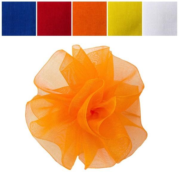 Zieh-Rüschenband, Organza, kräftige Farben, 0,9m x 3cm, 10 Stück