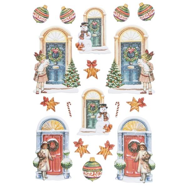 3-D Relief-Sticker, Türen 1, versch. Größen, selbstklebend