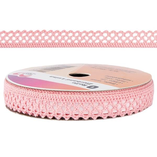 Zierband Luisa, 3m lang, 15mm breit, selbstklebend, rosé