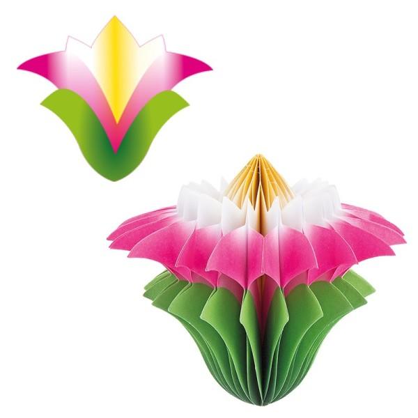 Waben-Stanzteile, Chrysantheme , 11cm x 9,3cm, 100 Stück