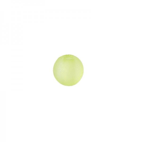 Perlen, gefrostet, Ø 4mm, 200 Stück, grün