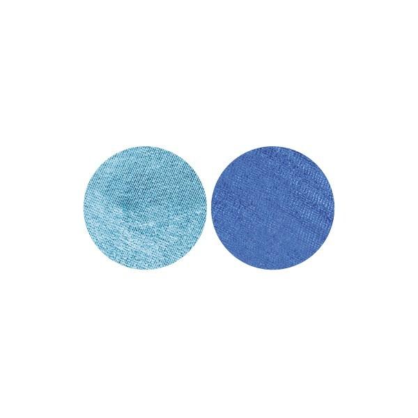 Stoffkreise für Knöpfe mit 19 mm Ø, türkis/blau, 50er Set