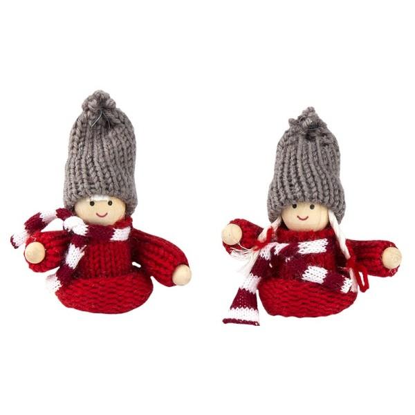 """Winter-Püppchen, Design 1 """"Lena"""", 8cm hoch, 2 Stück"""