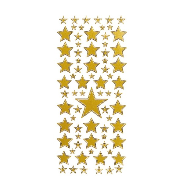 Sticker, Sterne 2, verschiedenen Größen, gold