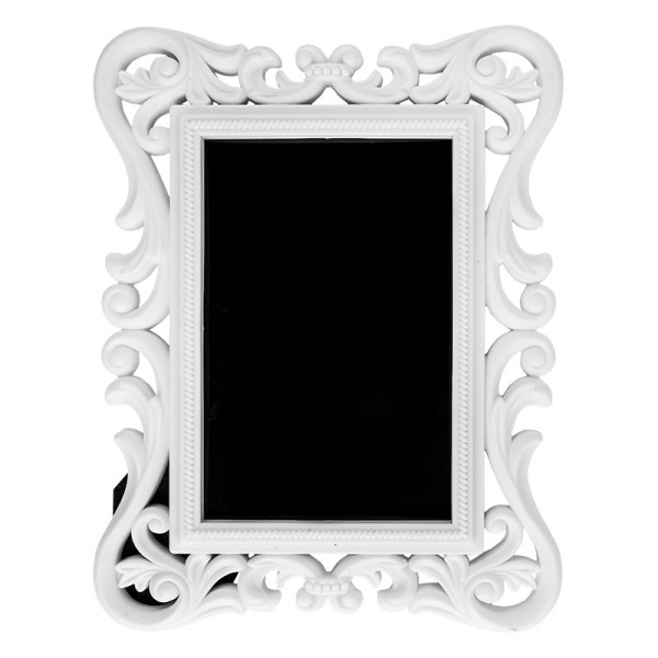 Relief-Wechselrahmen, Design 1, weiß, 17,5cm x 22,5cm, für Fotos 10cm x 15cm