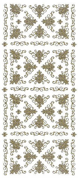 Sticker, edle Eck-Ornamente, gold