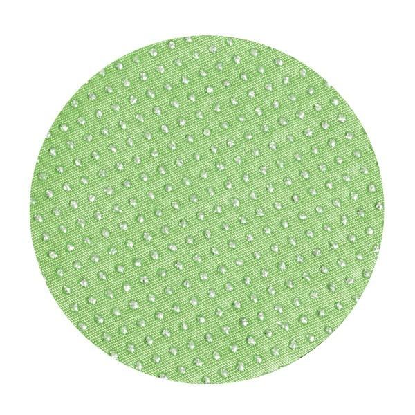 Satin-Kreise, Ø6cm, 50 Stück, Glitzer-Perlen, grün