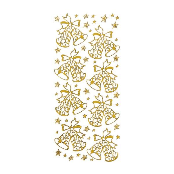 Sticker, Weihnachtsglocken, gold
