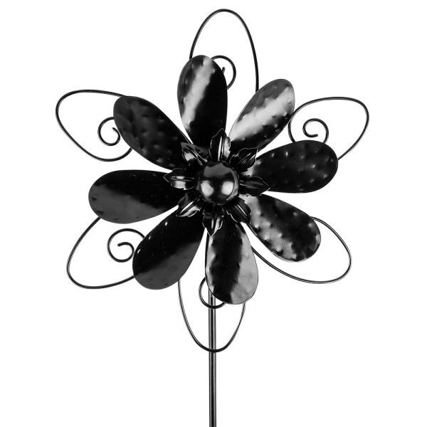 Windrad Design 3, Ø 29,5cm, Höhe 107cm, schwarz