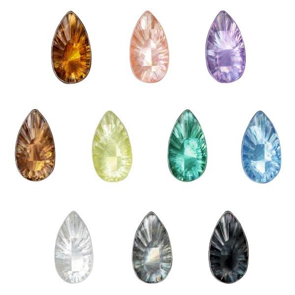 Laser-Kristalle, 10 Farben