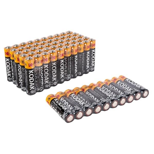 Batterien, KODAK XTRALIFE Alkaline, AAA, 60 Stück