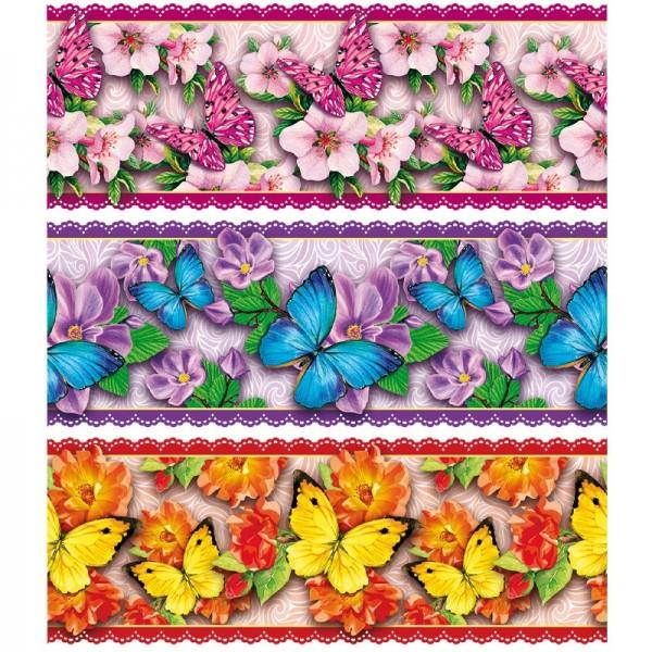 """Zauberfolien """"Blüten & Schmetterlinge"""", Schrumpffolien für Eier mit 10cm x 7,5cm, 9,3cm hoch, 6 Stüc"""