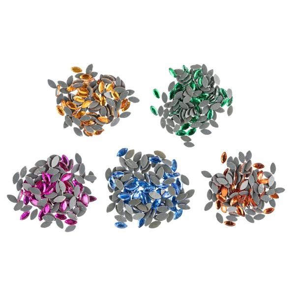 Bügelsteine, Ellipse, 6 x 3mm, 500 Stück