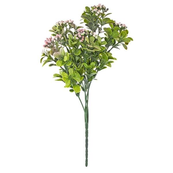Deko-Busch, Blütenknospen 1, 31cm lang, 5 Stängel, rosafarbene Knospen