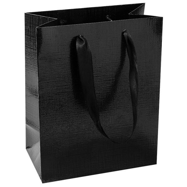 Geschenktaschen, 23cm x 18cm x 10cm, schwarz, 3 Stück