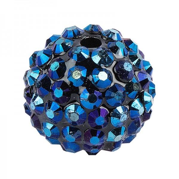 Kristall-Perlen, Ø 14mm, nachtblau, 10 Stück