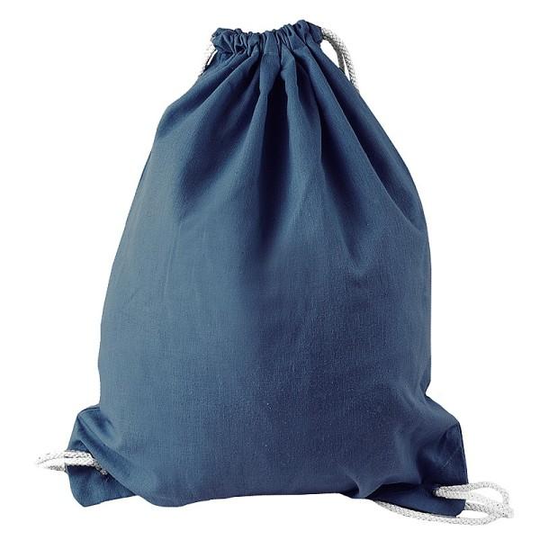 Turnbeutel aus Baumwolle, 37cm x 44cm, indigoblau