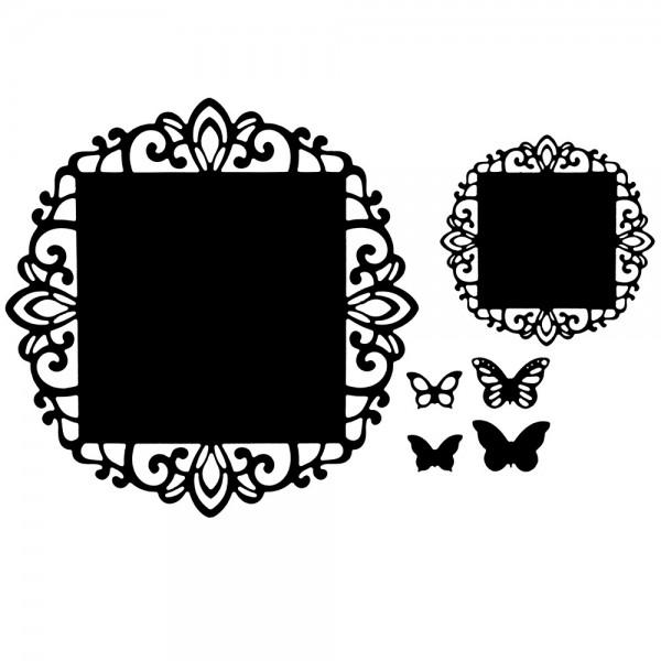 Präge-& Stanzschablonen, Zierdeckchen & Schmetterlinge 1, 6 Stück
