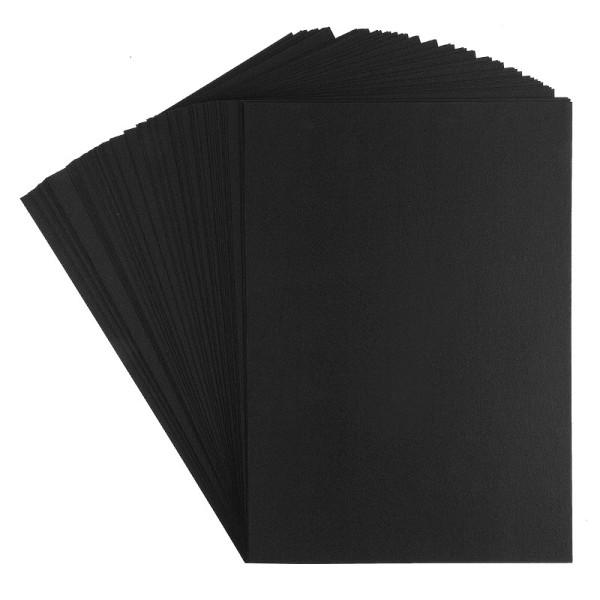 Tonkarton, DIN A4, 220g/m², schwarz, 100 Bogen