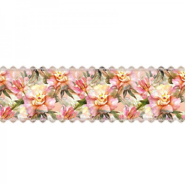 """Zauberfolien """"Blüten-Aquarell"""", Schrumpffolien für Eier mit 24cm x 17cm, 18cm hoch, 2 Stück"""